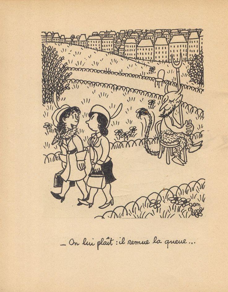 Жан Эфель, чье настоящее имя Франсуа Лежен (следовательно, FL), 1908 - 1982 г. Изучал искусство, музыку и философию в Париже.  После неудачной попытки сделать имя в драматургии, он начал посылать свои иллюстрации в различные французские издания. И вот на этом поприще его имя стало известно и не только во Франции - он стал одним из самых популярных иллюстраторов.