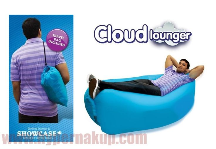Nafukovací vak - lôžko Cloud lounger modrý