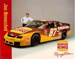 #87 Burger King Chevy, front roe Joe! #OLDSCHOOLNASCAR