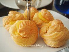 Recipes today - Durian Cream Puff  #dessert