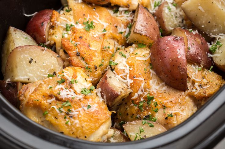 Slow-Cooker Garlic-Parmesan Chicken
