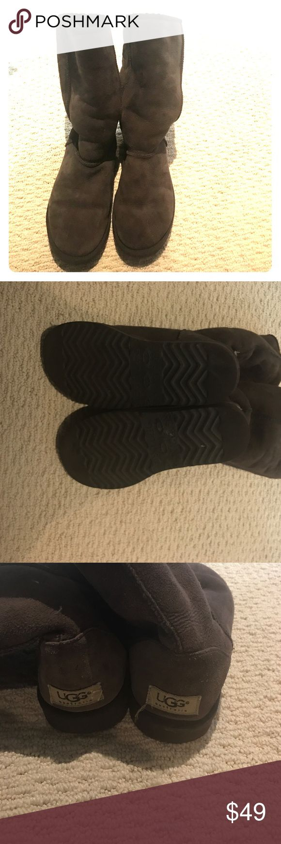 Brown UGG Brown uggs.  Have been preloved.  Still have wear left in them. UGG Shoes Winter & Rain Boots