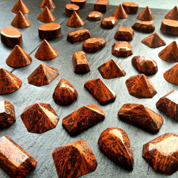 Chocolate Bronze Gems www.alicebentleychocolates.com