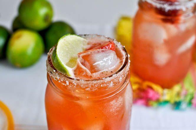 Fresh Strawberry Margaritas.