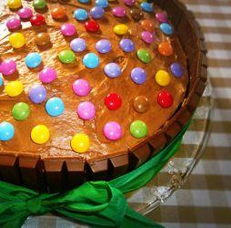 Torta Kit Kat e Smarties #italianfood #foodideas #creativefood #ricette