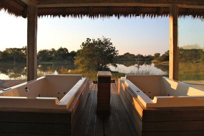 Kapama River Lodge spa, South Africa Via Pretty Prudent