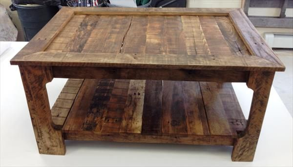 Rustic Coffee Table from Shipping Pallets | 101 Pallets