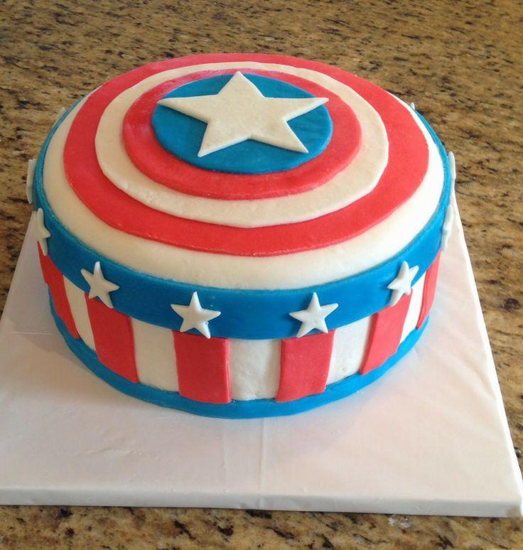 Hiasan Kue Ulang Tahun Anak Super Hero Kapten Amerika