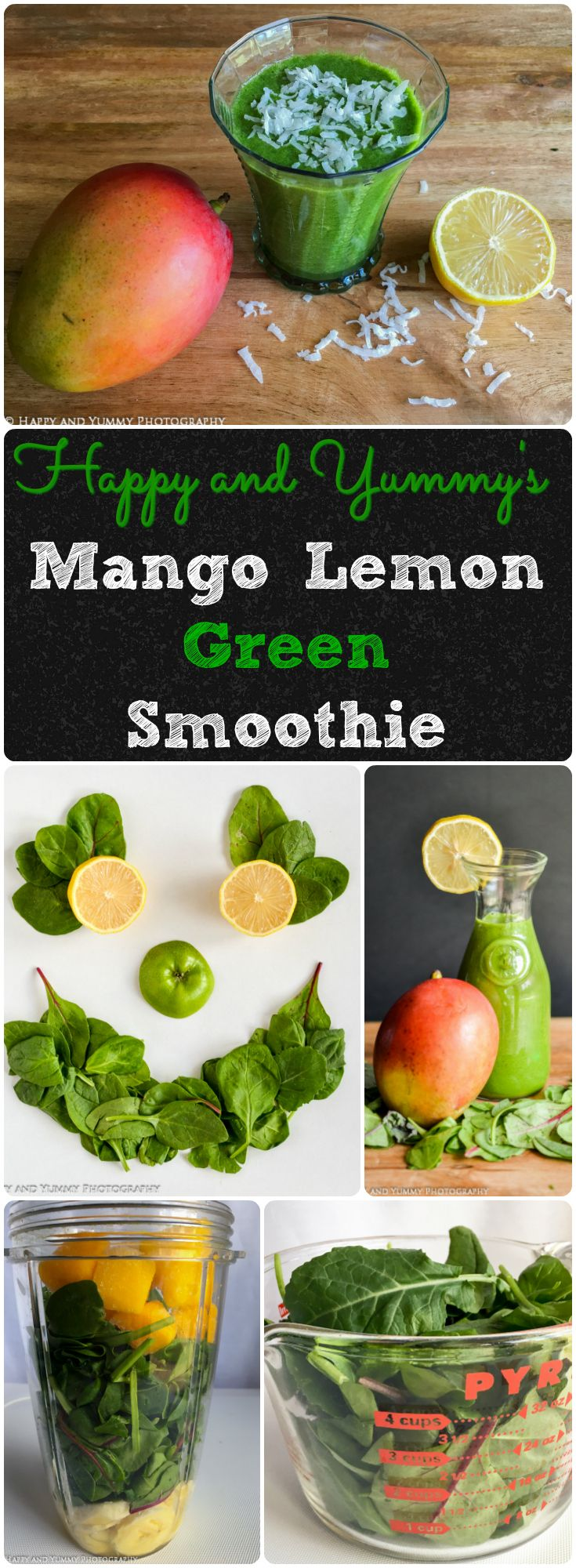 Mango Lemon Green Smoothie is loaded with nutrition and tastes like the tropics! Just 5 easy ingredients in this vegan and gluten free smoothie.