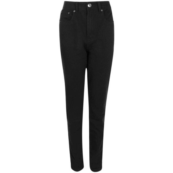 Boohoo Tall Eva High Waisted Black Boyfriend Jeans | Boohoo ($40) ❤ liked on Polyvore featuring jeans, high waisted jeans, boyfriend jeans, high waisted boyfriend jeans, high-waisted boyfriend jeans and high-waisted jeans