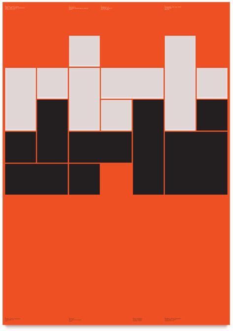 NB-Rietveld Poster, 840 x 594mm (DIN A1 Print), Stefan Gandl 2012 Pantone 805 + Black, 250g/m igepa circleoffset white thisissas:  (via NeubauLaden)