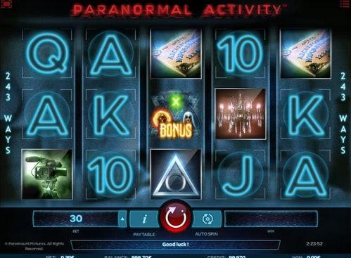 Paranormal Activity в интернет казино на рубли. В интернет казино всех фанатов ужасов ждет игра Paranormal Activity. Начните играть в нее онлайн на рубли и получите приличные денежные выигрыши, одновременно став участником одного из известных фильмов.   Особенности игры Paranormal Act