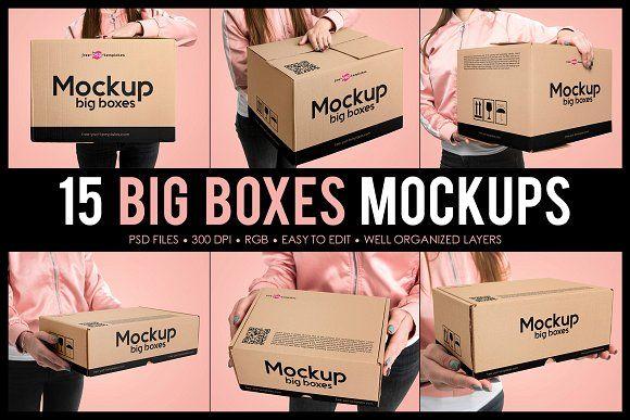 Download 15 Big Boxes Mockup Set Box Mockup Psd Template Free Mockup