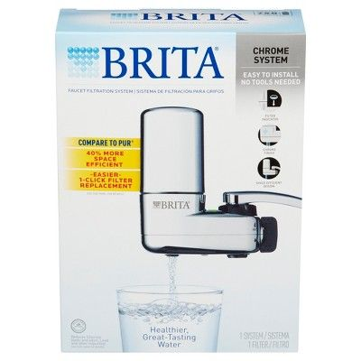 Brita On Tap Faucet Water Filter System - Chrome (Grey)