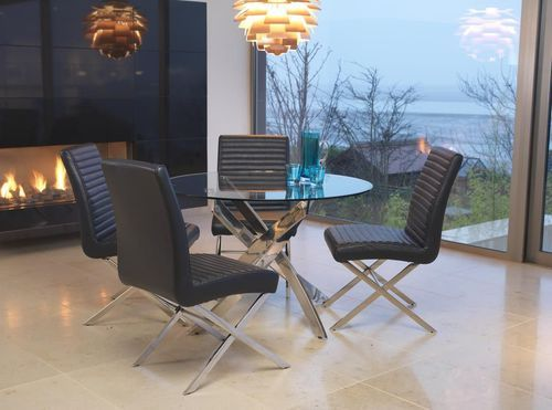 kalmar, dining table, glass, modern