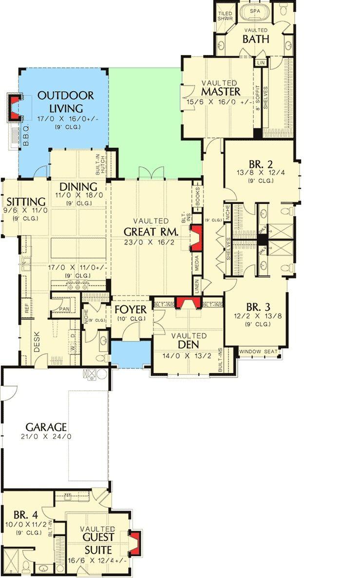 2941 Best Floor Plans Images On Pinterest Cottage