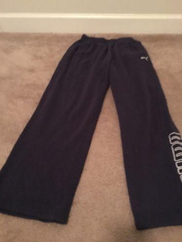 Puma Boys Jogging Sweat Pants Sz L Blue Clothes
