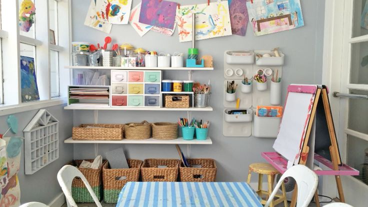 Benefits of an organized art area with video the art pantry children 39 s art spaces - Craft area for small spaces property ...