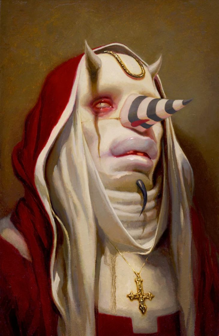 """Red King"" by Michael Hussar. Oil on canvas"