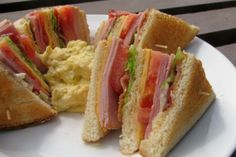 Club Sandwich. Would go great with Potato Salad. I have a recipe on this board. Check it out. ☺