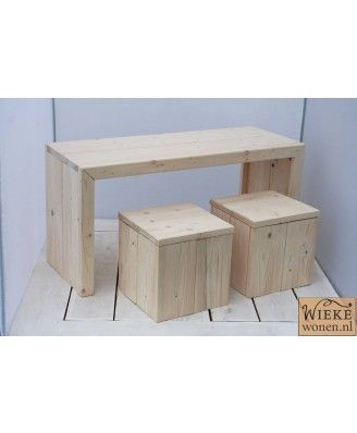Steigerhout-kindertafel
