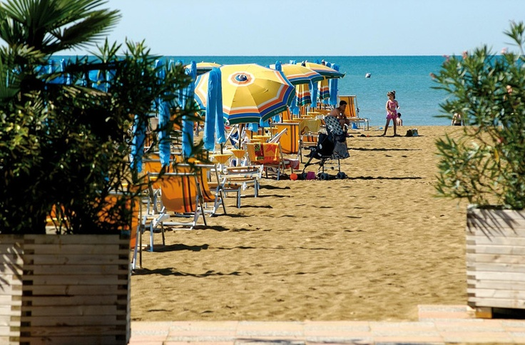 Arriving at the beach in #Bibione #Venice #Italy