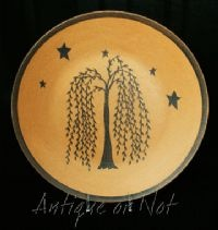 Willow tree and stars primitive wooden plate & 58 best Wooden plates images on Pinterest | Wooden plates ...