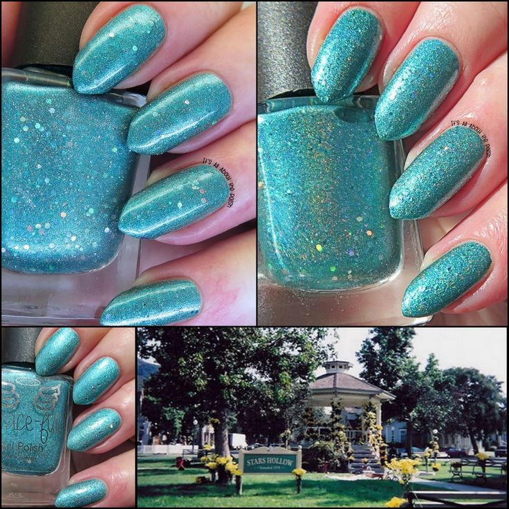 Stars Holo – a deep mint holo with silver and turquoise glitter. Stars Hollow where the Gilmore Girls is based always screams green to me so the choice for this polish was easy. The inclusion of ho...