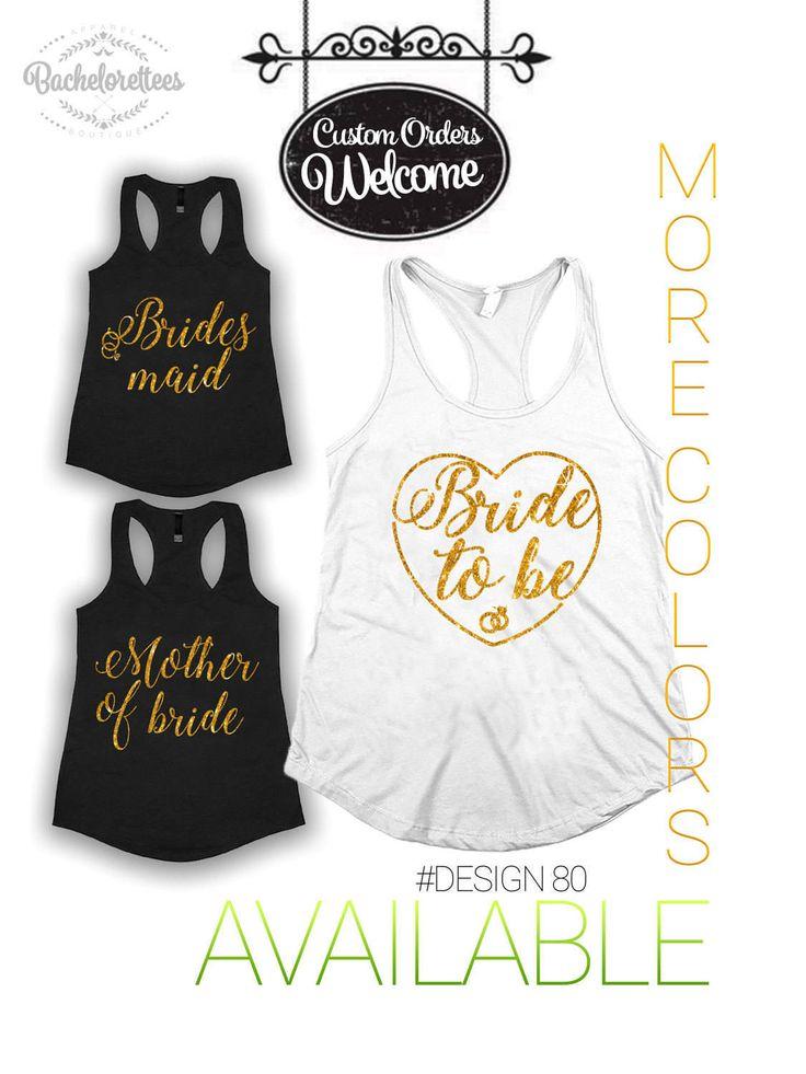 Bride Tank Top. Bridal Shirt. Bridal Tank Top. Bachelorette Shirt. Bachelorette Tank. Wedding Tank. Bride Shirt. Bride Glitter Top. by Bachelorettees on Etsy