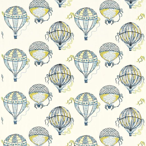 Beautiful Balloons Fabric Cobalt Yellow 232297, £83.00 (http://www.britishwallpapers.co.uk/beautiful-balloons-fabric-cobalt-yellow-232297/)