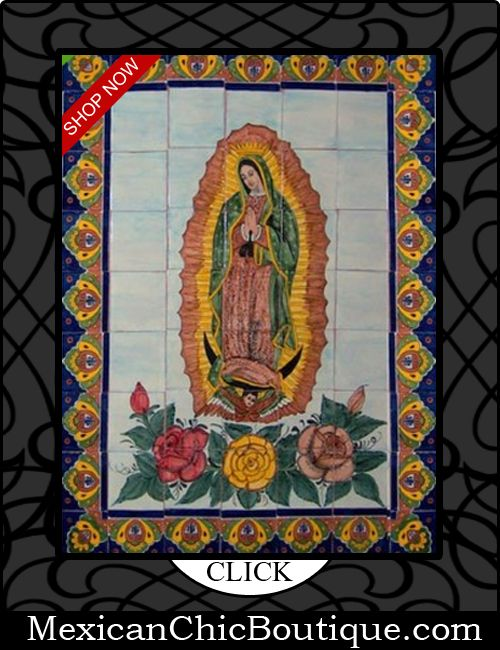 25 best pottery talavera images on pinterest mexican for Crossing the shallows tile mural