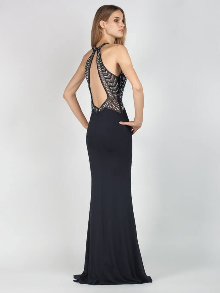 5ae2b4137a24 Βραδινό μάξι φόρεμα με εντυπωσιακό μπούστο