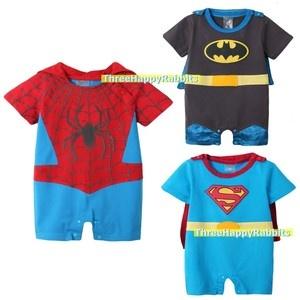 Baby Boy Halloween Spiderman / Superman / Batman Fancy Dress Costume Romper S025
