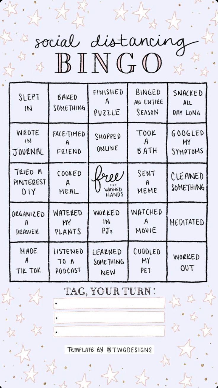 instagram social distancing bingo - Google Search in 2020   Story template, Bingo template ...