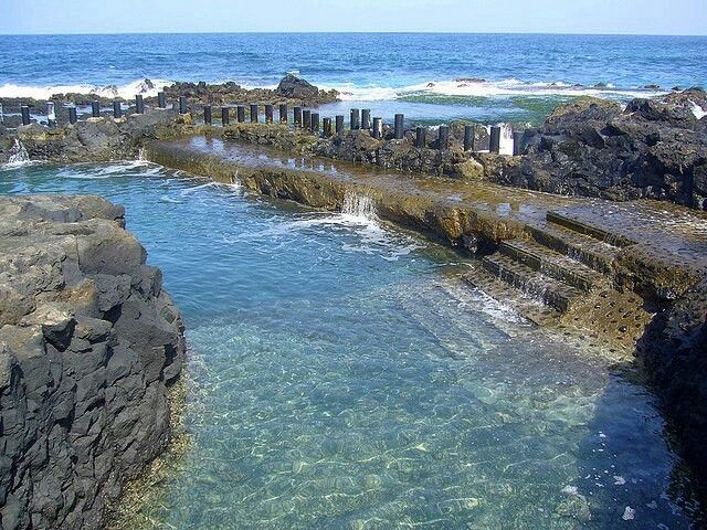 Spain, Canarias, Gran Canaria, Agaete, Natural Pools
