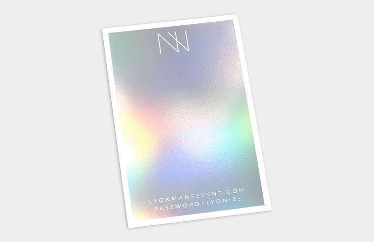 Custom Wedding Invitation / Neon Letterpress / Holographic Foil / Custom Lion Laser Cut Pocket / Custom Graphic Fonts / Bliss & Bone