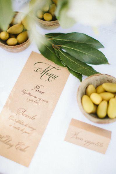 Menu, Portofino Italy Wedding | Design by Cristiano Guerra | ph. Rebecca Arthurs