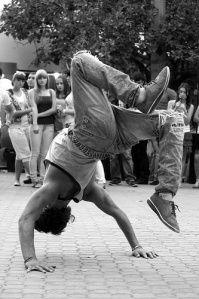 Break dance. Freeze. Pedestrian dance.