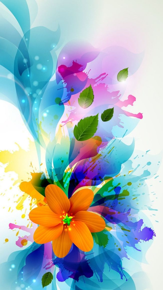 Other Color Ink Background Material Yellow Flowers H5 Flower Wallpaper Colorful Flower Art Colorful Wallpaper Cool wa wallpaper colorful