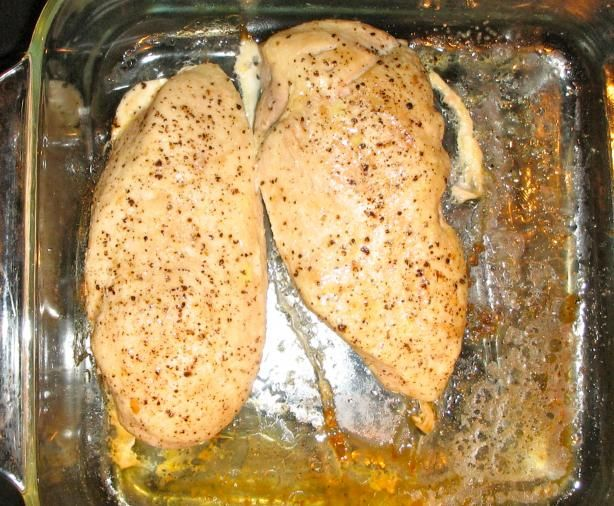 Ina Garten's secret for perfectly roasted chicken for chicken salads, pastas, etc. drizzle olive oil, salt and pepper over bone-in, skin-on chicken breasts. roast for 35 min at 350 degrees. remove skin, take off the bone, and chop.