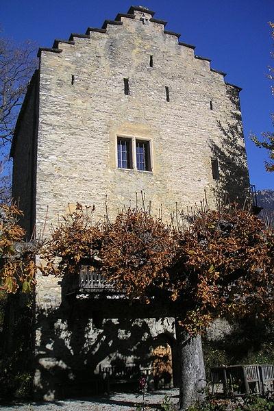Rilke's Turm in Muzot, Suisse