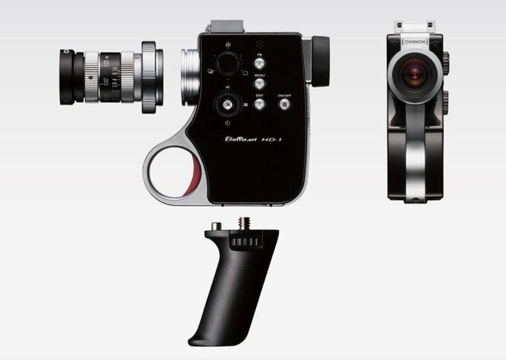 retro-styled bellami HD-1 digital super 8 camera by chinon