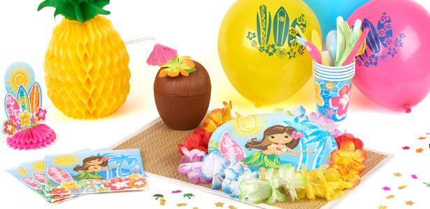 """Addobbi e decorazioni per feste a tema """"Hula festa in spiaggia"""" su VegaooParty"""