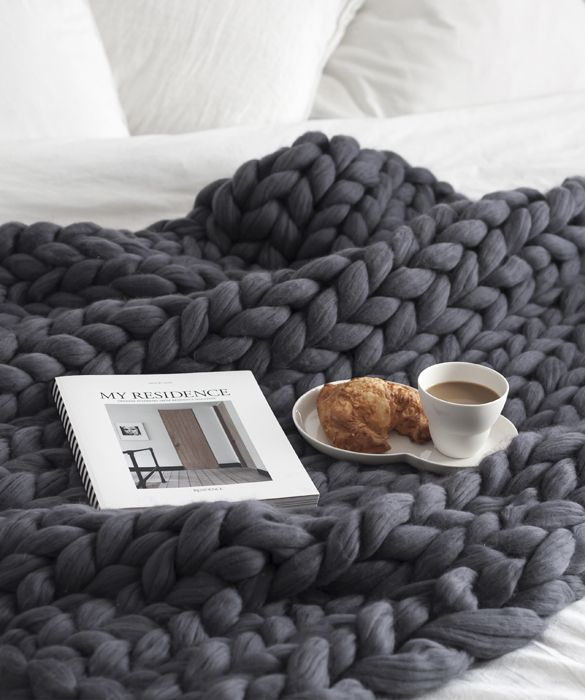 Medium Blanket i 100% merinould. Meget chunky :) 489 dollars