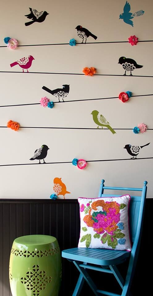 """Our new Sweet Tweets bird stencils, set A and B in the large size. Simple """"stencil how-to"""" coming soon. #stencils #lace #bird"""