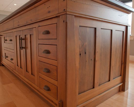 Excellent Custom Made Kitchen Island : Interesting Traditional Kitchen Custom Made Kitchen Island Using Vintage Reclaimed Wood Rustic Custom...