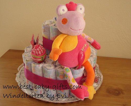Windeltorte 'Froschkönigin' für die kleine Prinzessin