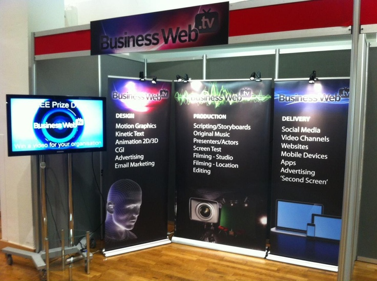 Exhibition Display Roller Banners printed for our sister company Business Web TV.