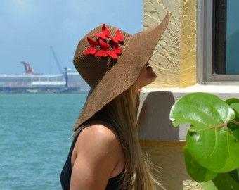 Floppy Hat Wide Brim Hat Large Brimmed Hat by ThinkButterfliesEtsy