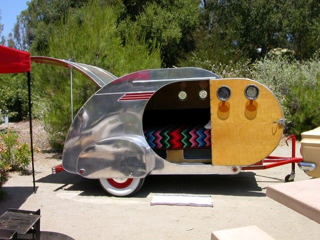 1949 Streamliner Vintage Teardrop Travel Trailer Camper
